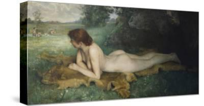 Reclining Nude; Nu Allongee-Emil Gustav Adolf Glockner-Stretched Canvas Print