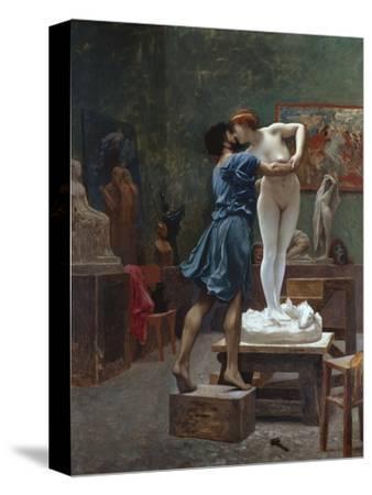 Pygmalion Et Galatee-Jean Leon Gerome-Stretched Canvas Print