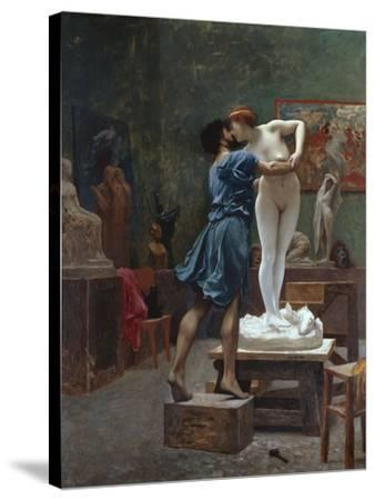 Pygmalion Et Galatee-Jean Leon Gerome-Stretched Canvas Print