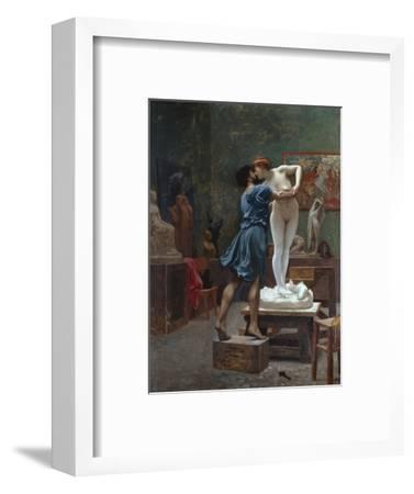 Pygmalion Et Galatee-Jean Leon Gerome-Framed Premium Giclee Print