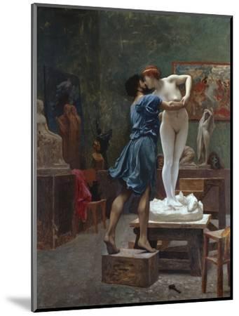 Pygmalion Et Galatee-Jean Leon Gerome-Mounted Premium Giclee Print