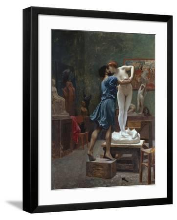 Pygmalion Et Galatee-Jean Leon Gerome-Framed Premium Giclee Print