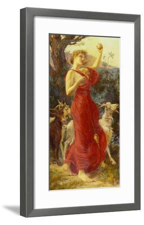 The Goat Girl-Edith Ridley Corbet-Framed Giclee Print