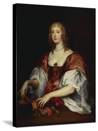Portrait of a Lady, Traditionally as the Countess of Carnarvon-Anthony Van Dyck (Circle of)-Stretched Canvas Print