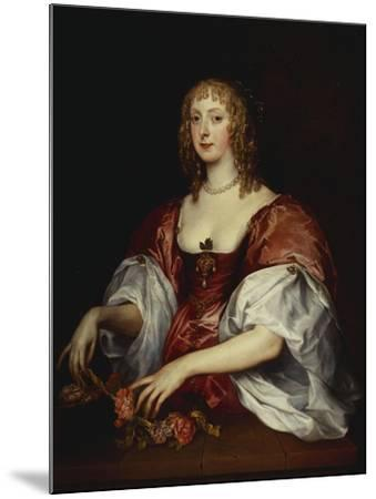 Portrait of a Lady, Traditionally as the Countess of Carnarvon-Anthony Van Dyck (Circle of)-Mounted Giclee Print