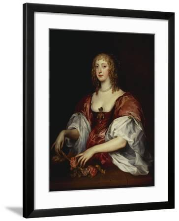 Portrait of a Lady, Traditionally as the Countess of Carnarvon-Anthony Van Dyck (Circle of)-Framed Giclee Print
