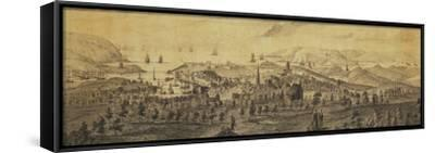 The North East Prospect of Plymouth, in the County of Devon-Samuel and Nathaniel Buck-Framed Stretched Canvas Print