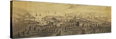 The North East Prospect of Plymouth, in the County of Devon-Samuel and Nathaniel Buck-Stretched Canvas Print
