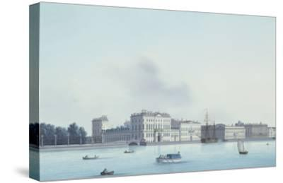 A View of St. Petersburg; the Neva River- Leperate-Stretched Canvas Print