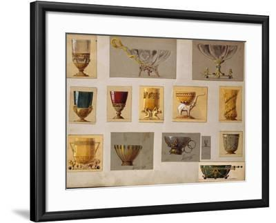 A Selection of Designs from the House of Faberge Including Bowls Goblets Cups and Tumblers--Framed Giclee Print