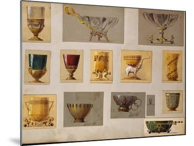 A Selection of Designs from the House of Faberge Including Bowls Goblets Cups and Tumblers--Mounted Giclee Print