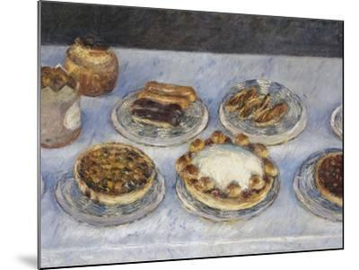 Cakes; Gateaux-Gustave Caillebotte-Mounted Giclee Print