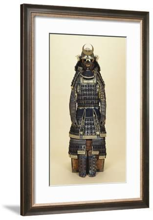 A Suit of Samurai Armour, the Kabuto Comprising a Fine Sixty-Two Plate Russet-Iron Sujibachi and…--Framed Giclee Print