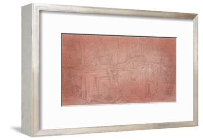 Cliff Temples with Firs; Felsentempel Mit Tannen-Paul Klee-Framed Giclee Print