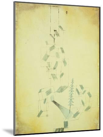 Bau Am Bach-Paul Klee-Mounted Giclee Print