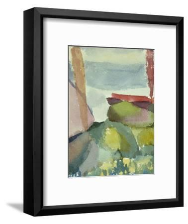 The Seaside in the Rain; See Ufer Bei Regen-Paul Klee-Framed Premium Giclee Print