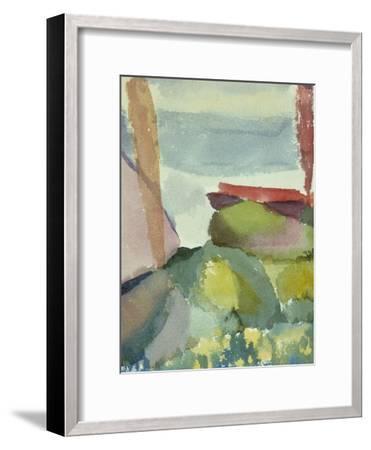The Seaside in the Rain; See Ufer Bei Regen-Paul Klee-Framed Giclee Print