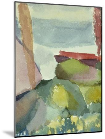 The Seaside in the Rain; See Ufer Bei Regen-Paul Klee-Mounted Giclee Print