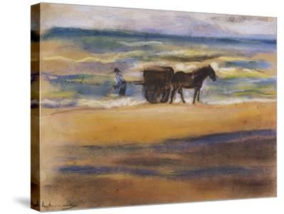 Muschelsucher Am Strand-Max Liebermann-Stretched Canvas Print