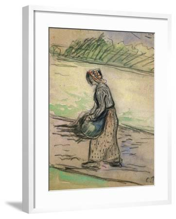 Peasant with Firewood; Paysanne Aux Fagots-Camille Pissarro-Framed Giclee Print
