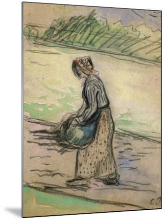 Peasant with Firewood; Paysanne Aux Fagots-Camille Pissarro-Mounted Giclee Print