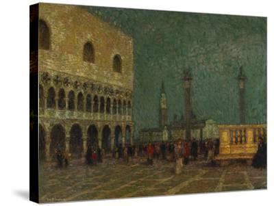 Venice, St. Mark's Square; Venise, La Place St. Marc-Henri Eugene Augustin Le Sidaner-Stretched Canvas Print