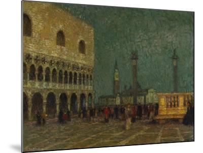 Venice, St. Mark's Square; Venise, La Place St. Marc-Henri Eugene Augustin Le Sidaner-Mounted Giclee Print