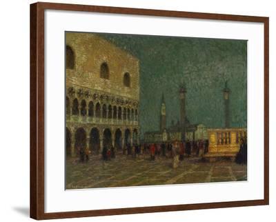 Venice, St. Mark's Square; Venise, La Place St. Marc-Henri Eugene Augustin Le Sidaner-Framed Giclee Print