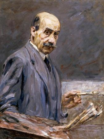 Self Portrait; Selbstbildnis-Max Liebermann-Stretched Canvas Print