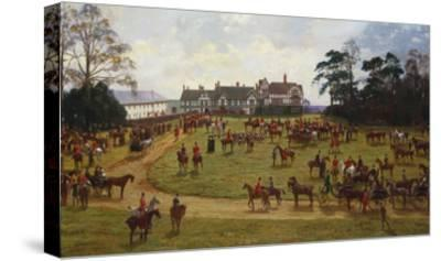 The Cheshire Hunt: the Meet at Calverly Hall-George Goodwin Kilburne-Stretched Canvas Print