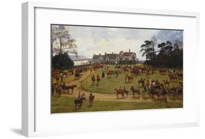 The Cheshire Hunt: the Meet at Calverly Hall-George Goodwin Kilburne-Framed Giclee Print
