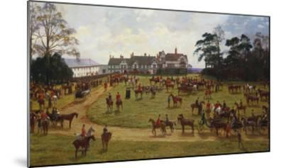 The Cheshire Hunt: the Meet at Calverly Hall-George Goodwin Kilburne-Mounted Giclee Print