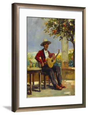 The Guitar Player-Julio Vila y Prades-Framed Giclee Print