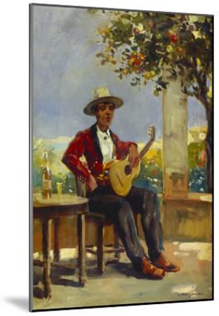 The Guitar Player-Julio Vila y Prades-Mounted Giclee Print