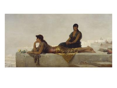 Arab Women on a Rooftop-Nathaniel Sichel-Framed Giclee Print