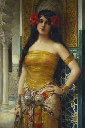 The Favourite of the Harem-Leon Francois Comerre-Stretched Canvas Print
