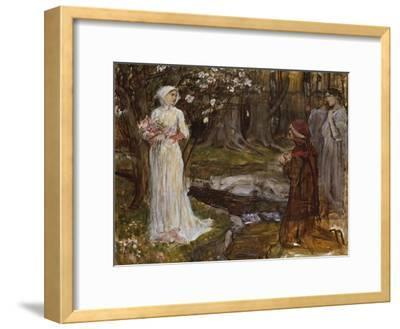Dante and Beatrice-John William Waterhouse-Framed Giclee Print