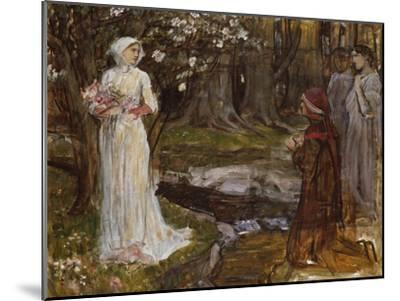 Dante and Beatrice-John William Waterhouse-Mounted Giclee Print