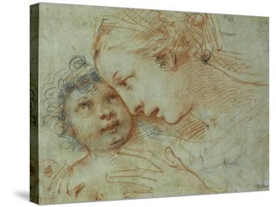 The Madonna and Child-Carlo Francesco Nuvolone-Stretched Canvas Print