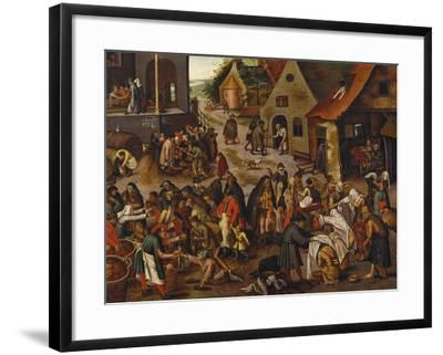 The Seven Acts of Mercy-Pieter Bruegel the Elder-Framed Giclee Print