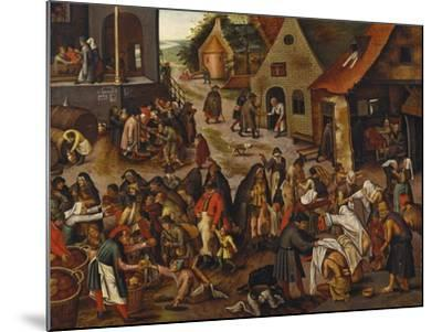 The Seven Acts of Mercy-Pieter Bruegel the Elder-Mounted Giclee Print