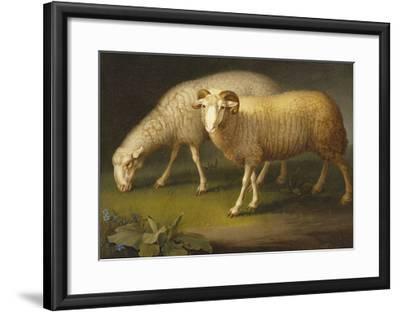 A Ram and a Sheep-Johan Wenzel Peter-Framed Giclee Print