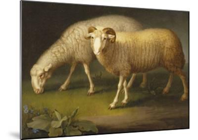 A Ram and a Sheep-Johan Wenzel Peter-Mounted Giclee Print