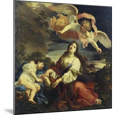 The Angel Appearing to Hagar and Ishmael in the Desert-Giuseppe Ghezzi (Attr to)-Mounted Giclee Print
