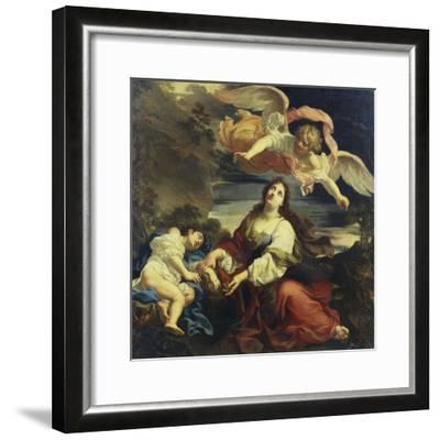 The Angel Appearing to Hagar and Ishmael in the Desert-Giuseppe Ghezzi (Attr to)-Framed Giclee Print