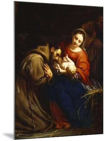 The Holy Family with St. Francis-Jacob Van Oost-Mounted Giclee Print