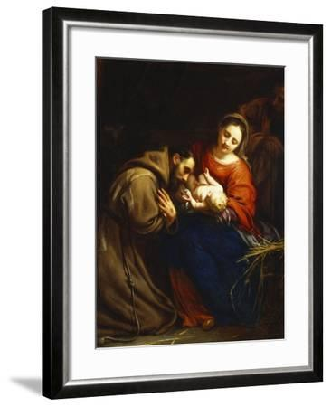 The Holy Family with St. Francis-Jacob Van Oost-Framed Giclee Print