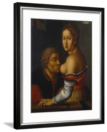 Cimon and Pero (Caritas Romana)-Georg Pencz-Framed Giclee Print