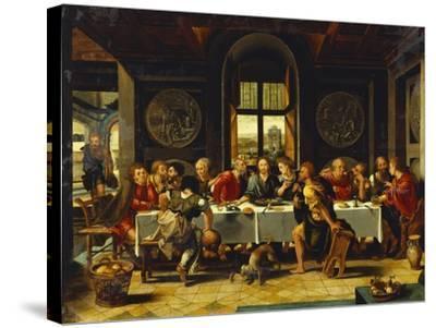 The Last Supper-Pieter Coecke van Aelst (Studio of)-Stretched Canvas Print