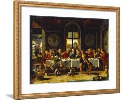 The Last Supper-Pieter Coecke van Aelst (Studio of)-Framed Giclee Print